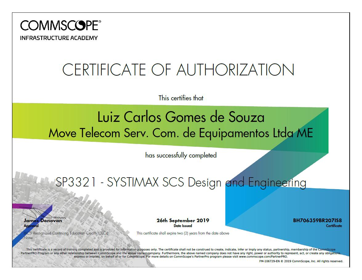 SP3321-Systmax SCS Design And Engineering - Luiz